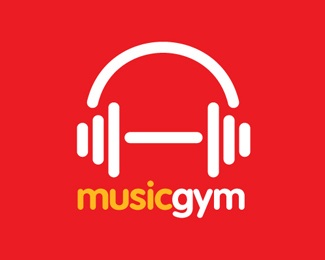 audio,ipod,orange,red,gym logo