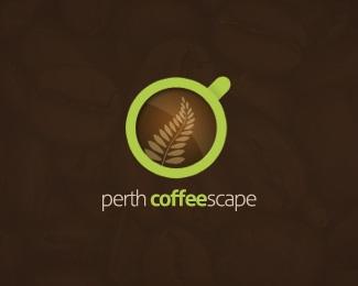 brown,coffee,cup,green logo