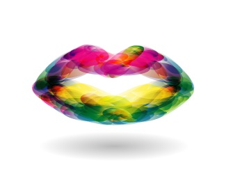 colorful,mouth logo
