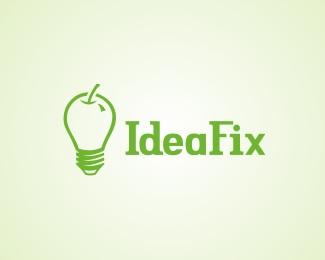 graphic,idea,typography,ecology,ideafix logo