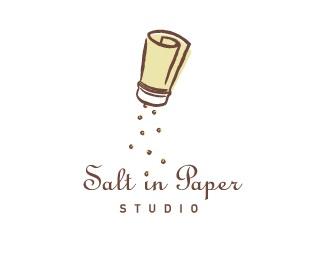 design,paper,pepper,shaker,salt logo
