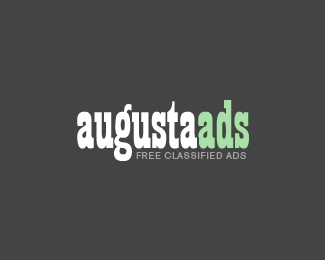 green,grey,white,dark,classifieds logo