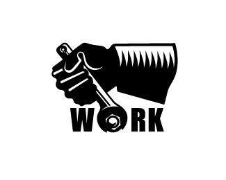 hand,work,wrench,glove,propaganda logo