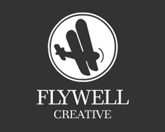 creative,fly,plane,flight,flywell logo