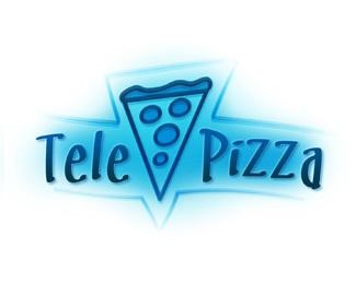 food,pizza,tele,italian logo