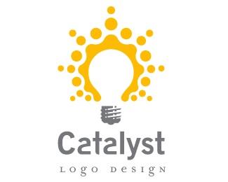 catalyst,idea,lightbulb,explosion,burst logo