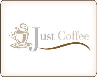 coffee,cafe,just coffee logo
