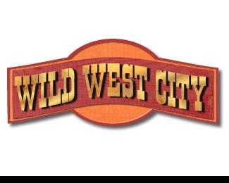 western,amusement park,old west,theme park,wild west city logo