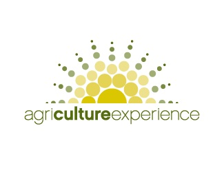 circle,experience,sun,agriculture,dots logo