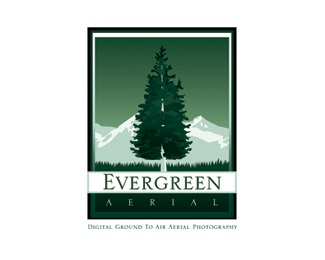 photography,evergreen,evergreen aerial logo