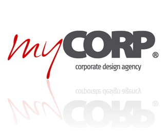 gray,red,identity,corporate,mycorp logo