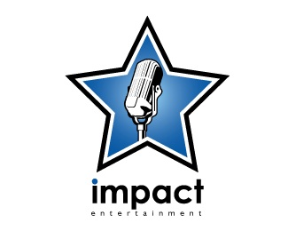 microphone,star,entertainment,sans-serif type logo