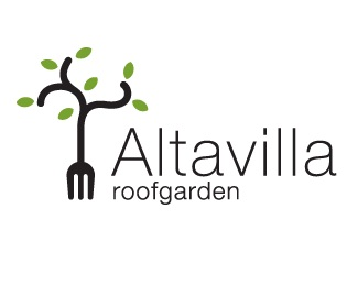 food,restaurant,altavilla,lecce,roofgarden logo