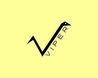 black,simple,snake,v,viper logo