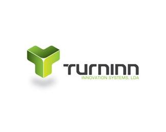 3d,green,technology,innovation,turninn logo
