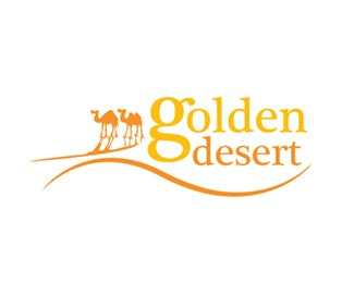 golden,tourism,desert,camel,arabic logo