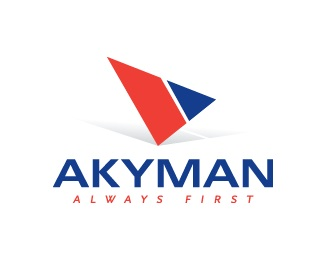 blue,red,akyman logo