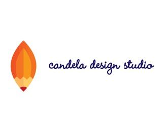 design,idea,pencil,flame,crativity logo