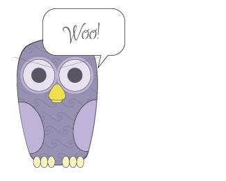 violet,comics,owl logo