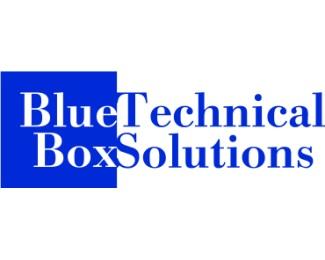 blue,box,square,tech logo
