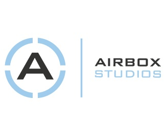 blue,gray,studio,airbox logo