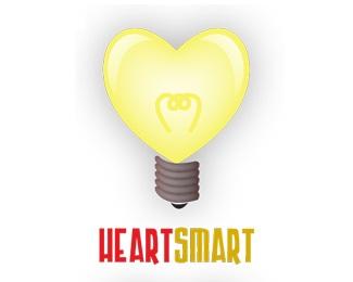 bulb,heart,light,smart,cardio logo