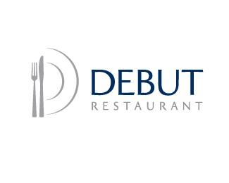 food,restaurant,knife,fork,plate logo