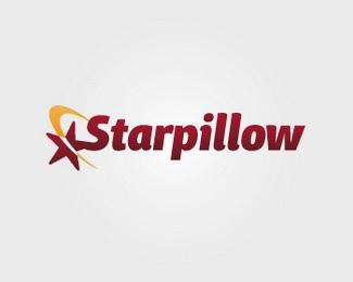 star,yellow,dark red,wordmark logo