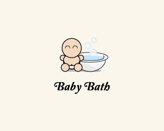 baby,clean,bath logo
