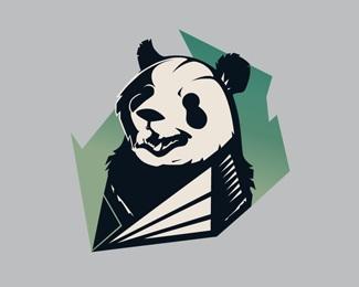 creative,green,panda logo