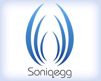 blue,egg,white,minimal,resonating logo