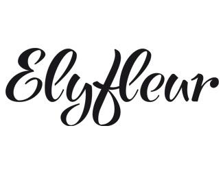 type,calligraphy,elyfleur logo