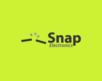 green,snap,electronics logo