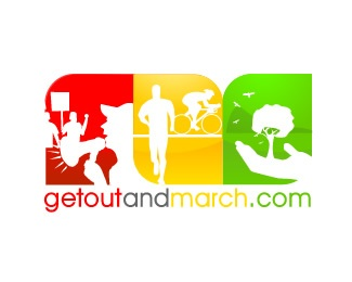 Getoutandmarch White Version logo