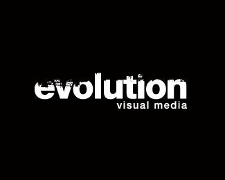 black,media,evolution,visual,visual media logo