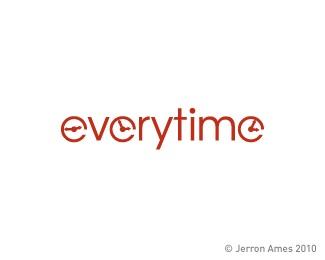 clock,time,ames,jerron logo
