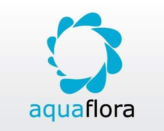 aqua,balance,droplets,flora logo