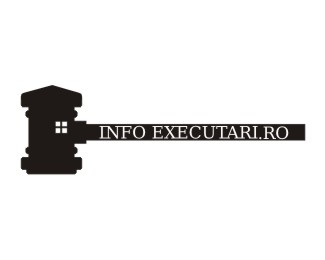 house,info,portal,auction,judge logo