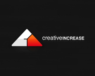 clean,glossy,white,triangle,creative increase logo