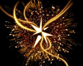 gold,star,break,explosion,explode logo