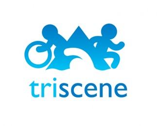 running,cycling,sports,swimming,triathlon logo