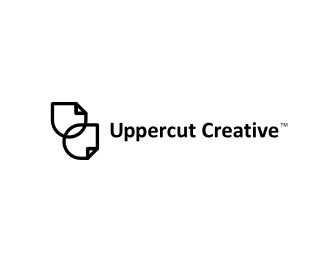 creative,cut,wire,upper,marketing logo