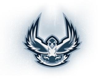 bird,blue,eagle,wings,talons logo