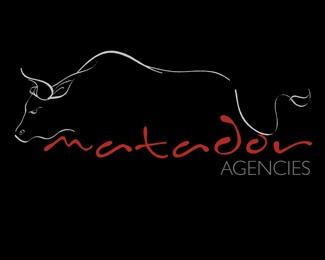 bull,agency,matador logo