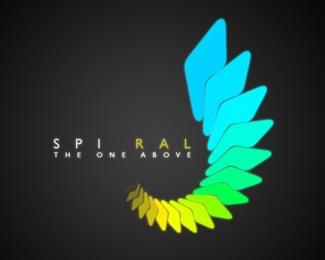 one,spiral,above logo