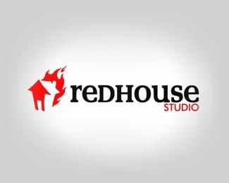 design,house,red,studio logo