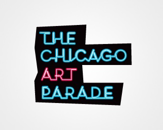 art,black,neon,parade logo