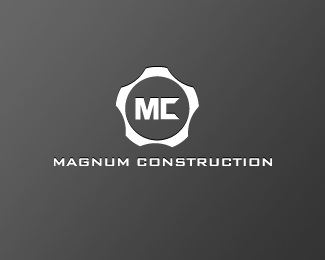 circle,construction,revolver,magnum logo