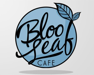 blue,coffee,font,leaf,cafe logo