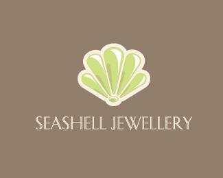 green,neutral,shell,jewelery,seashell logo